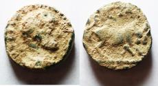 Ancient Coins - ARABIA. PETRA . ELGABALUS AE 18
