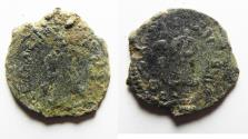 World Coins - NEEDS CLEANING. ARAB-BYZANTINE AE FALS