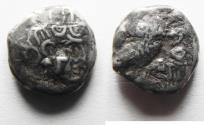 Ancient Coins - South Arabia. Sabean kingdom. Late 4th-mid 2nd centuries BC. AR half unit (12mm, 2.47g). Imitating Athens.