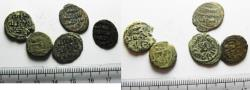 Ancient Coins - ISLAMIC. UMMAYYED LOT OF 5 AE FALS COINS