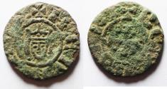 Ancient Coins - AS FOUND: CRUSADERS, Lusignan Kingdom of Cyprus. Henry I. 1218-1253. Æ Fractional Denier