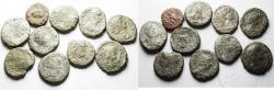 Ancient Coins - EGYPT. ALEXANDRIA. LOT OF 10 BILLON TETRADRACHMS. MIGHT BE TREATED FURTHER?!