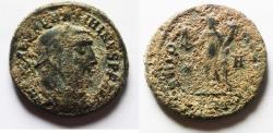 Ancient Coins - ORIGINAL DESERT PATINA: MAXIMINUS II AE FOLLIS