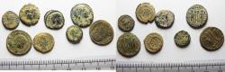 Ancient Coins - ORIGINAL DESERT PATINA. LOT OF 8 ROMAN AE COINS