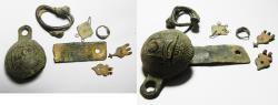 Ancient Coins - LOT OF BRONZE ANCIENT RELICS. 100 - 1600 A.D