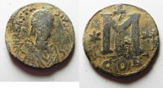 Ancient Coins - BYZANTINE EMPIRE. ANASTASIUS BRONZE FOLLIS