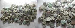 Ancient Coins - LOT OF 100 ANCIENT BRONZE COINS. MOSTLY JUDAEAN PRUTOT