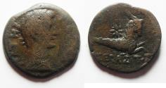Ancient Coins - Egypt. Alexandria under Augustus. AE diobol