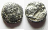 Ancient Coins - South Arabia. Sabean kingdom. Late 4th-mid 2nd centuries BC. AR half unit (12mm, 2.52g). Imitating Athens.