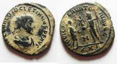 Ancient Coins - ORIGINAL DESERT PATINA: DIOCLETIAN AE ANTONINIANUS