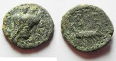 Ancient Coins - 	PHOENECIA. SIDON. 1ST CENT. A.D AE 15