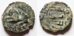 Ancient Coins - ISLAMIC. UMMAYED AE FALS WITH LION. TIBERIAS MINT ضرب طبرية