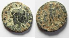 Ancient Coins - AS FOUND. LIGHT SOIL PATINA. CRISPUS AE FOLLIS. SCARCE.