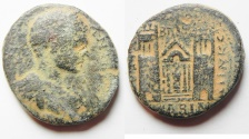 Ancient Coins - Apparently unpublished?? :  Decapolis. Abila under  Elagabalus (AD 218-222). AE 30mm, 18.95g. Struck in civic year 282 (AD 218/19).