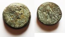 Ancient Coins - EGYPT, Alexandria. Augustus. 27 BC-AD 14. Æ Diobol – 80 Drachmai. AE 27. First series, struck circa 30-28 BC.
