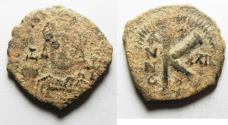 Ancient Coins - AS FOUND. Justin II 565-578, Half Follis