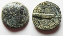 Ancient Coins - SELEUKID KINGDOM. DEMETRIOS II AE 19. TYRE MINT
