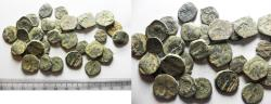Ancient Coins - AS FOUND: LOT OF 30 ANCIENT NABATAEAN BRONZE COINS
