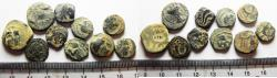 Ancient Coins - LOT OF 10 ANCIENT BRONZE COINS. MOSTLY NABATAEAN