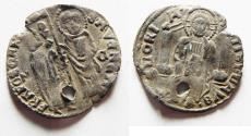 World Coins - Republic of Venice. 1300 AD. Silver Grosso
