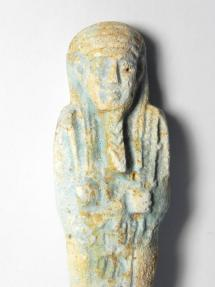 Ancient Coins - ANCIENT EGYPTIAN FAIENCE USHABTI (SHABTI) , 600 - 300 B.C, WITH HIEROGLYPHS , PERFECT CONDITION!