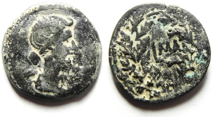 Ancient Coins - EGYPT - ALEXANDRIA , LIVIA AE DIOBOL