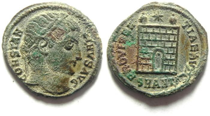 Ancient Coins - CONSTANTINE I AE 3 , CAMPGATE AS FOUND