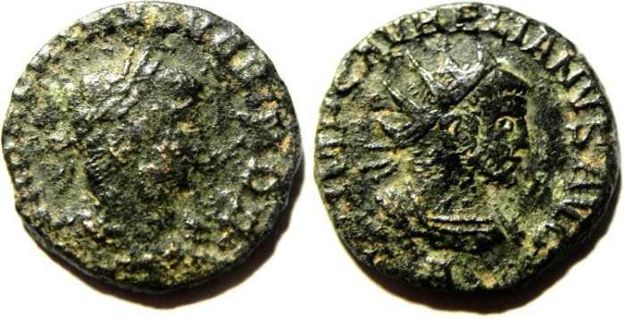 Ancient Coins - VABALATHUS & AURELIAN BILLON ANTONINIANUS