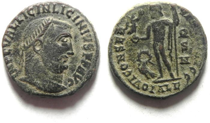 Ancient Coins - LICINIUS I AE FOLLIS , NICE QUALITY , ALEXANDRIA MINT