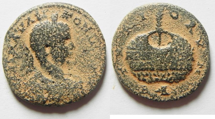 Ancient Coins - Phoenicia Tyre. Elagabalus ae 25. Urn