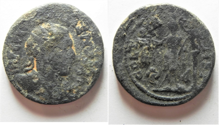 Ancient Coins - PHOENICIA. TYRE. GORDIAN? AE 29MM. AS FOUND