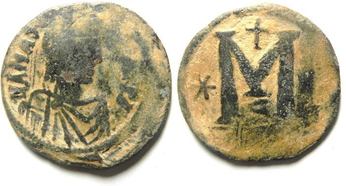 Ancient Coins - BYZANTINE ANASTASIUS AE FOLLIS