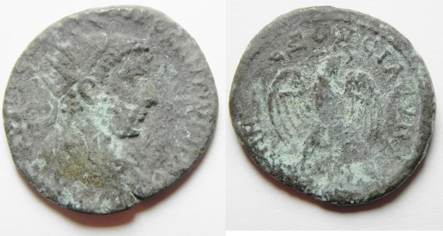 Ancient Coins - ROMAN PROVINCIAL. Syria. Emesa under Uranius Antoninus (AD 253-254). Billon tetradrachm (26mm, 9.36g).
