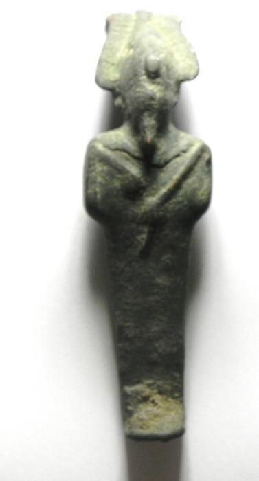 Ancient Coins - ANCIENT EGYPTIAN BRONZE STATUE , OSIRIS , 10.5 CM IN HEIGHT