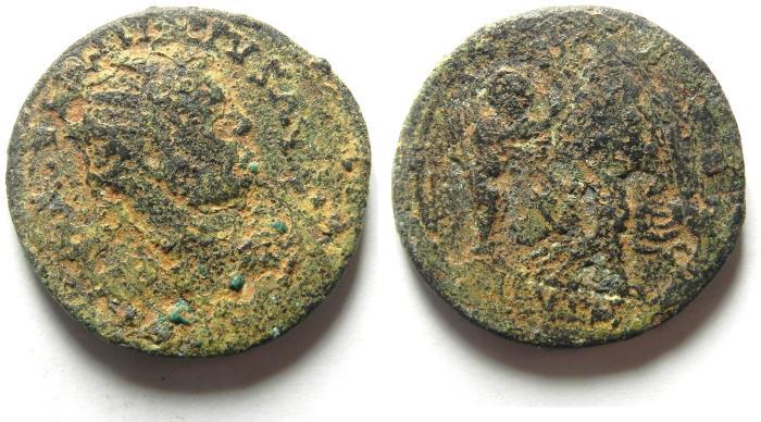 Ancient Coins - Roman Provincial. Samaria, Neapolis under Philip I , AD 244 - 249. AE 27