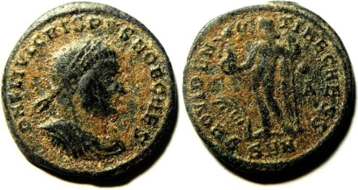 Ancient Coins - CRISPUS AE FOLLIS, AS FOUND