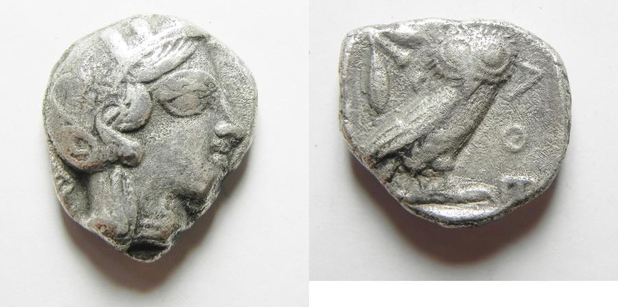 Ancient Coins - GREEK. Attica, Athens. AR Tetradrachm (15.46gm , 24mm). Struck c. 454-404 BC.