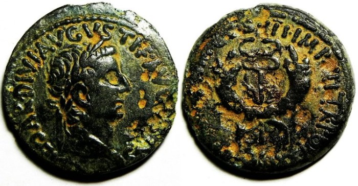 Ancient Coins - AUGUSTUS AE AS OF SYRIA, HIGH QUALITY