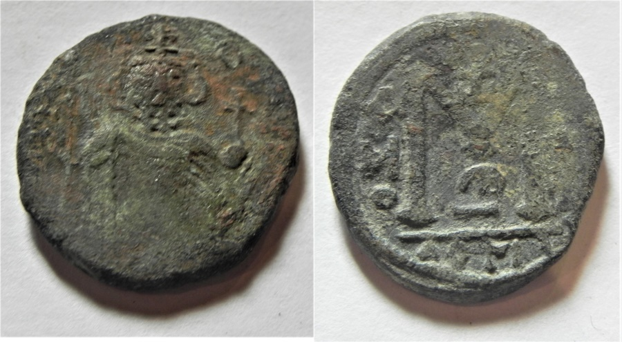World Coins - ARAB-BYZANTINE AE FILS. DAMASCUS MINT