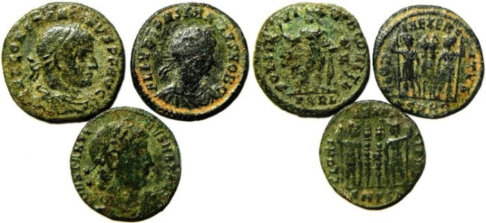 Ancient Coins - LOT OF 3 ROMAN BRONZE COINS