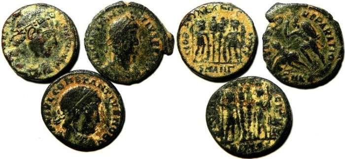 Ancient Coins - LOT OF 3 ROMAN AE 3 COINS. NICE!!