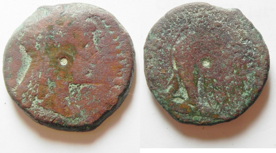 Ancient Coins - Ptolemaic Kings of Egypt. Ptolemy VI Philometor. Alexandria mint Æ with Isis Head