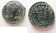 Ancient Coins - CONSTANTINE I AE 3 . NICE QUALITY. CONSTANTINOPLE MINT