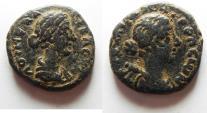 Ancient Coins -  Decapolis. Gerasa. Faustina Junior. Augusta, AD 147-175. Æ 24