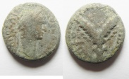 Ancient Coins - JUDAEA. GALILEE, SEPPHORIS. Trajan, 98-117 A.D . AE 15