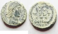 Ancient Coins - CONSTANTIUS II AE 4 . NICE DESERT PATINA