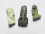 Ancient Coins - ANCIENT EGYPT , LOT OF 3 FAIENCE AMULETS , 600 - 300 B.C
