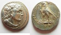 Ancient Coins - Egypt. Ptolemaic kings. Ptolemy V Epiphanes (204-180 BC). AR tetradrachm (27mm, 14.24g) Uncertain Cypriote or Phoenician mint. Struck in era year 79 (184/3 BC).