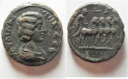 Ancient Coins - UNPUBLISHED:  Egypt. Julia Domna (Augusta, 194-217). Billon tetradrachm (25mm, 13.39g).