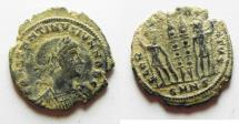 Ancient Coins - CONSTANTINE II AE 4 . NICE DESERT PATINA
